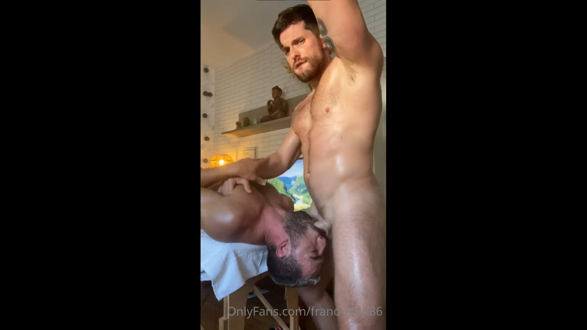 Throat fucking a fit guy and cumming over his face - Frandullon86