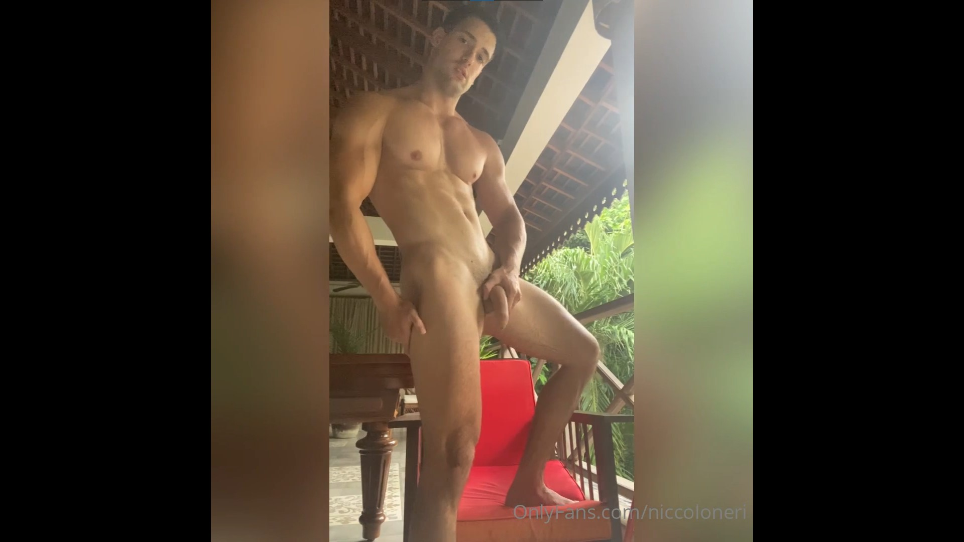 Jerking off and cumming over myself – Niccolo Neri – Gay for Fans – gayforfans.com