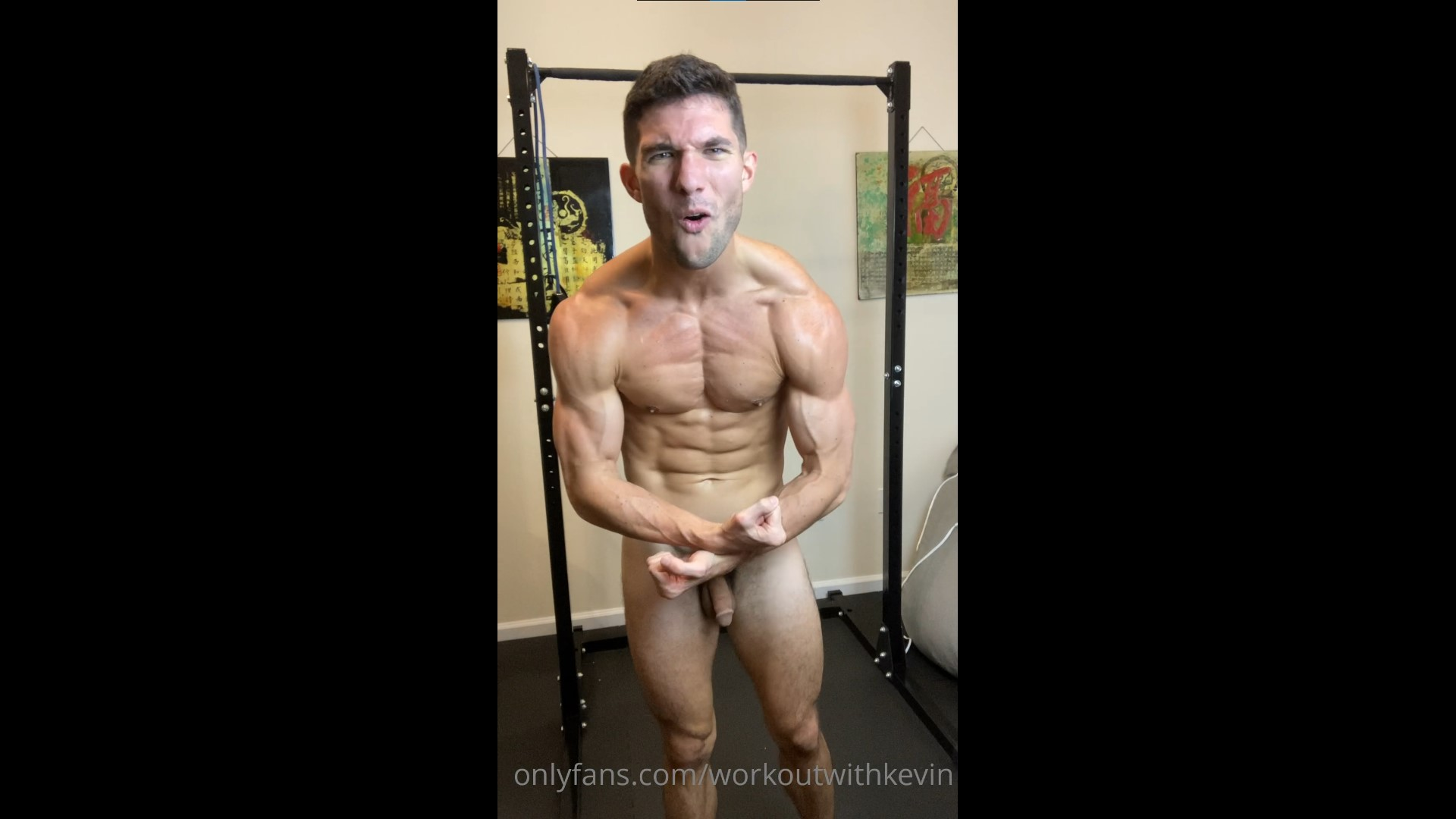 Working out hard while naked - Kevin Cook (WorkoutwithKevin)