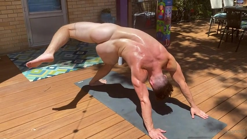Doing some more naked yoga - Nick Sandell