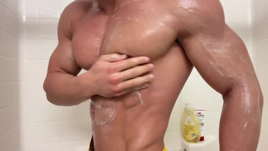 Getting lathered up in the shower - Dominick Nicolai (dominicolai)