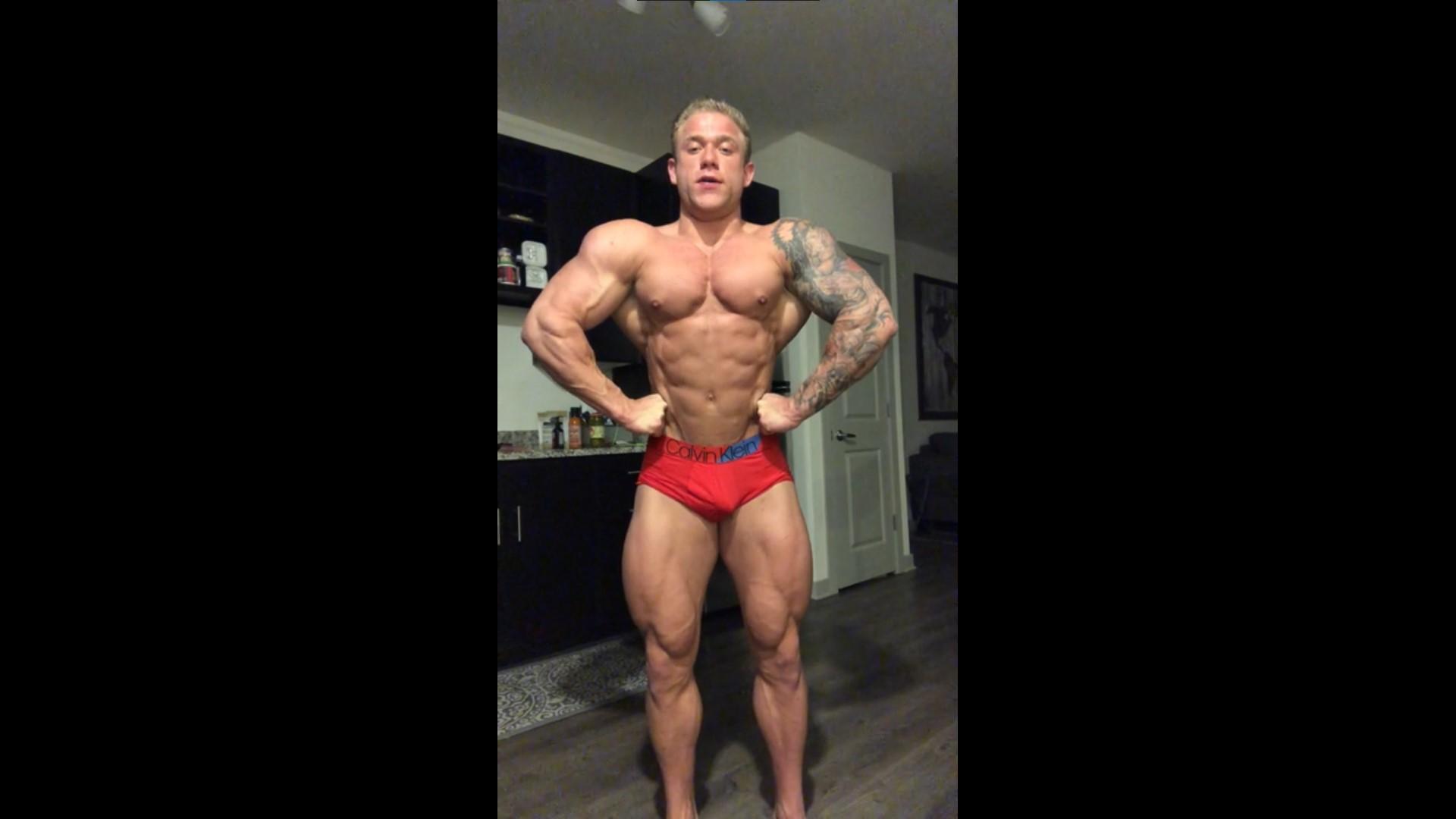 Flexing hard in my underwear - Jake Daniel