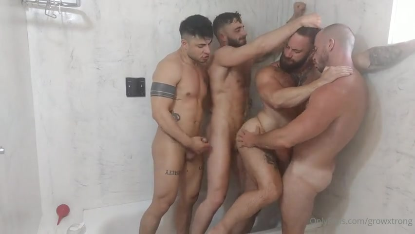 Fooling around in the shower and taking turns fucking thebeardx - growxtrong - poloxxxfans - liamgalty
