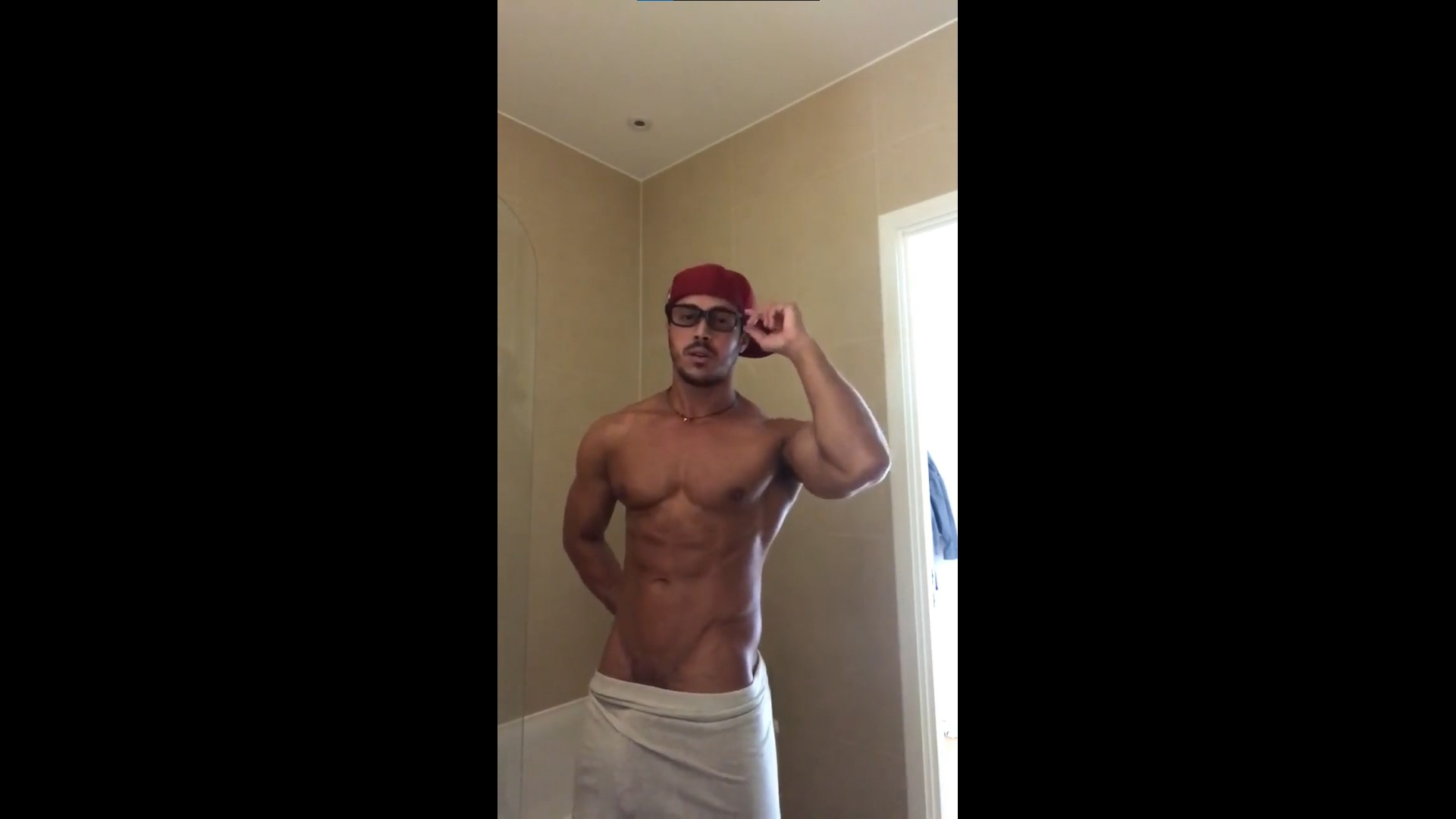 Showing off my body and being a tease after a shower - Diego Barros
