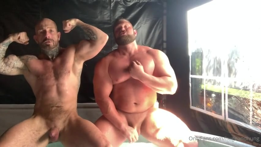 Fooling around in the hot tub with a muscle hunk - Jack Stacked (hugeandhung)