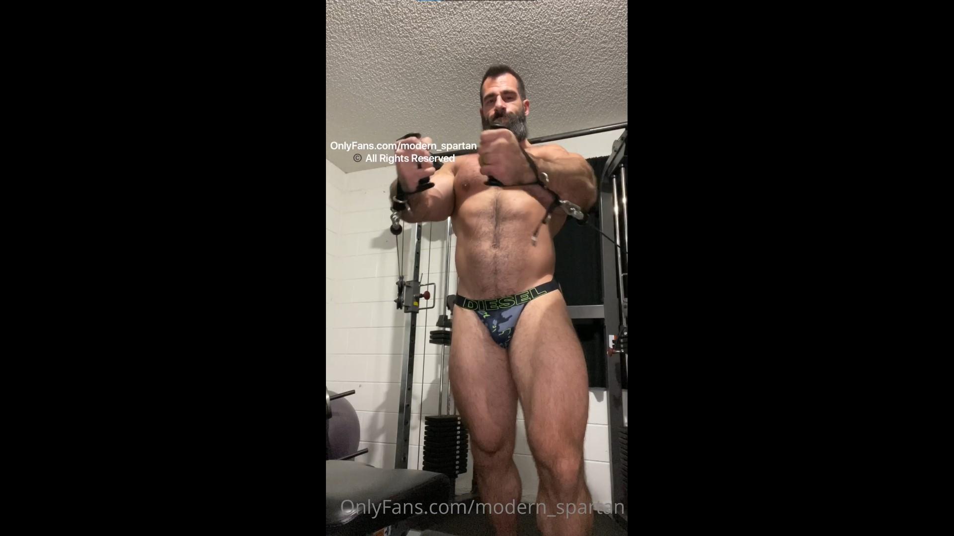 Working out in my jockstrap - Nick Pulos (modern_spartan)