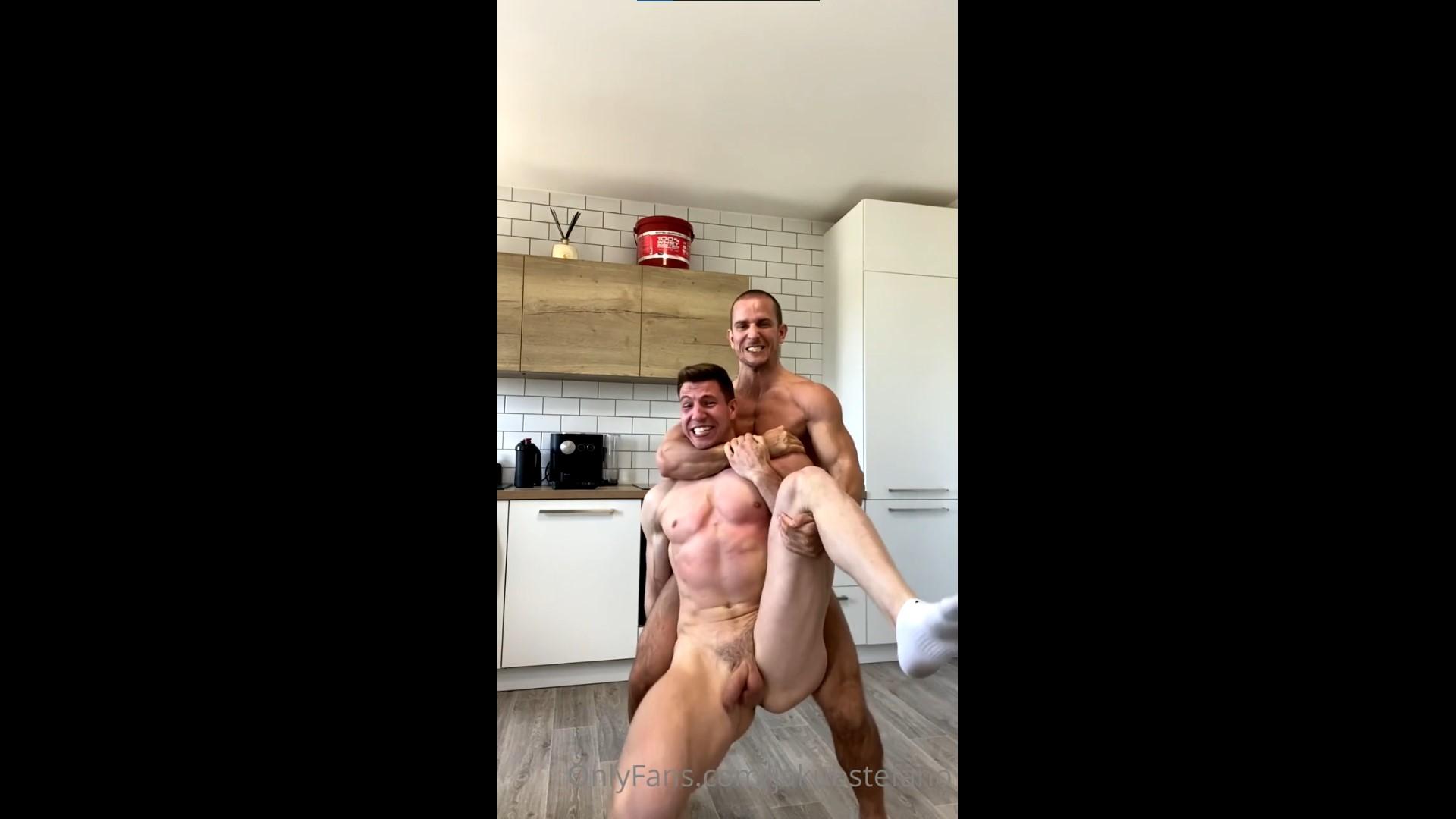 Jakub Stefano and Niko Vangelis wrestle nude – Gay for Fans – gayforfans.com