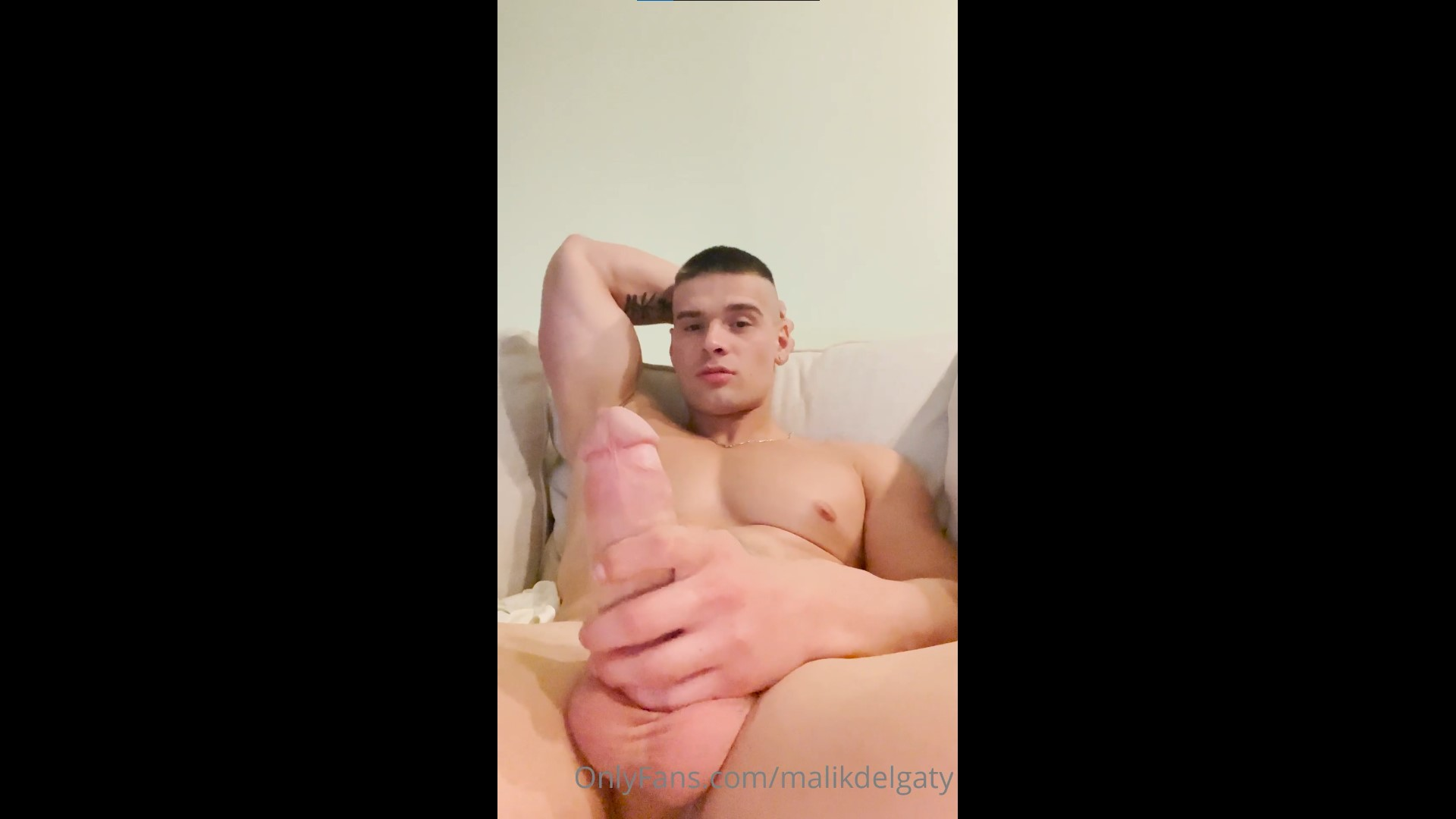 Hanging out naked while playing with my cock - Malik Delgaty