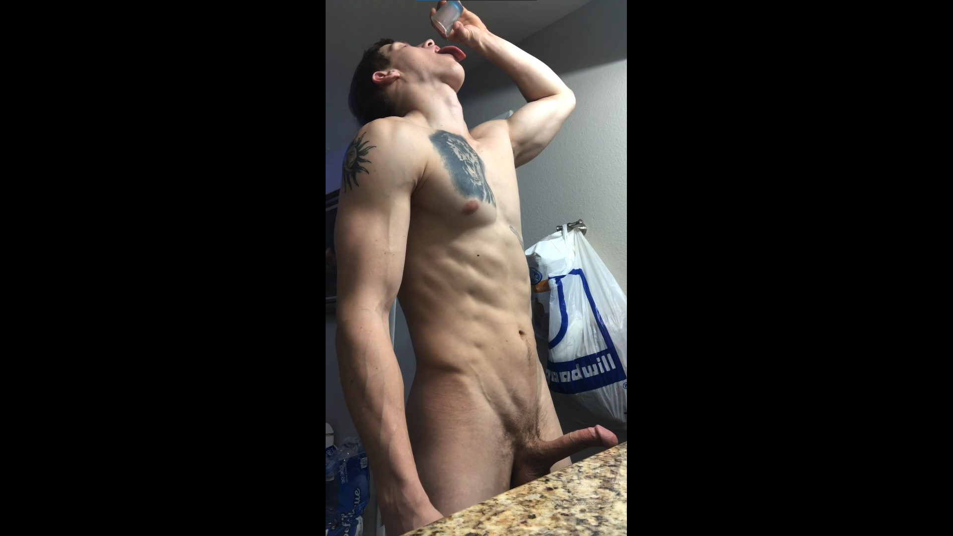 Jerking off into a shot glass and eating my load – Daniel Jensen (phdpepper) – Gay for Fans – gayforfans.com