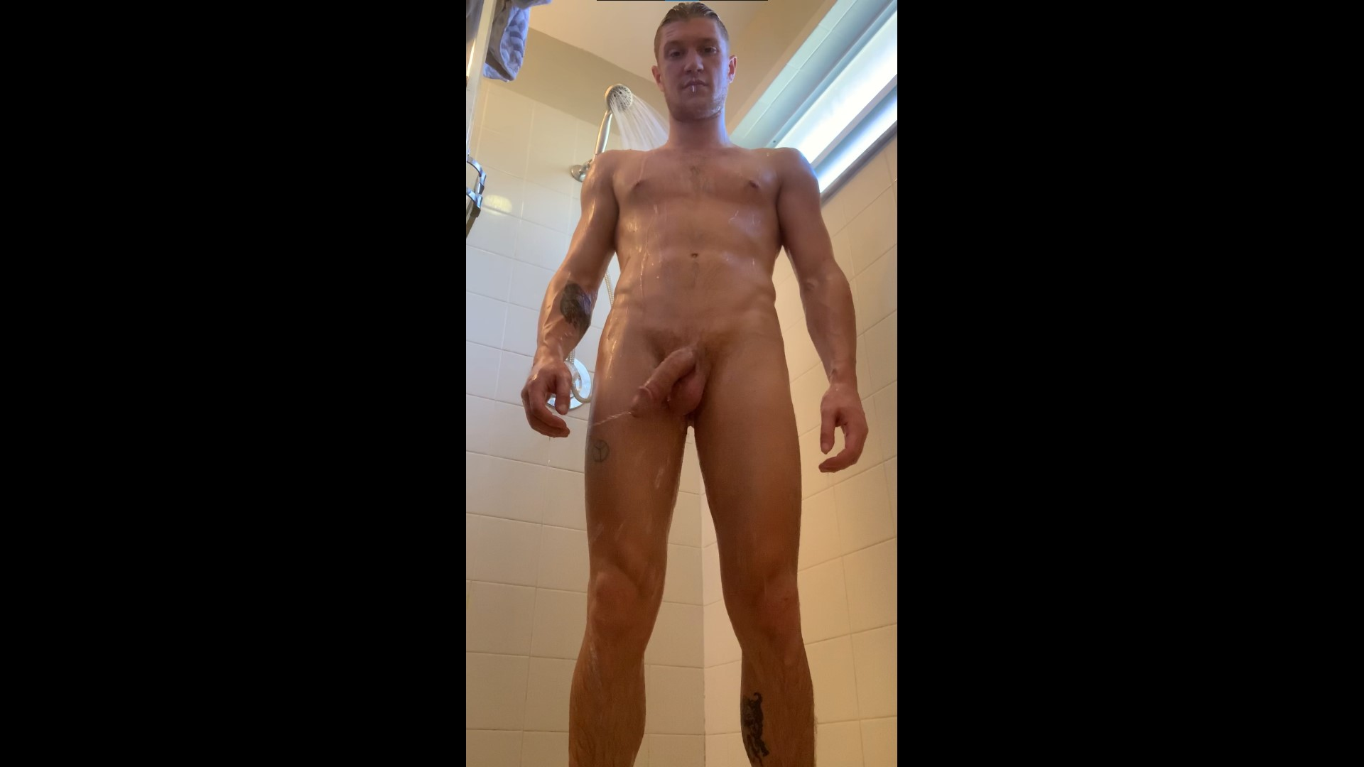 Showing off my body and cock in the shower - Oliver Flynn (TheOliverFlynn)