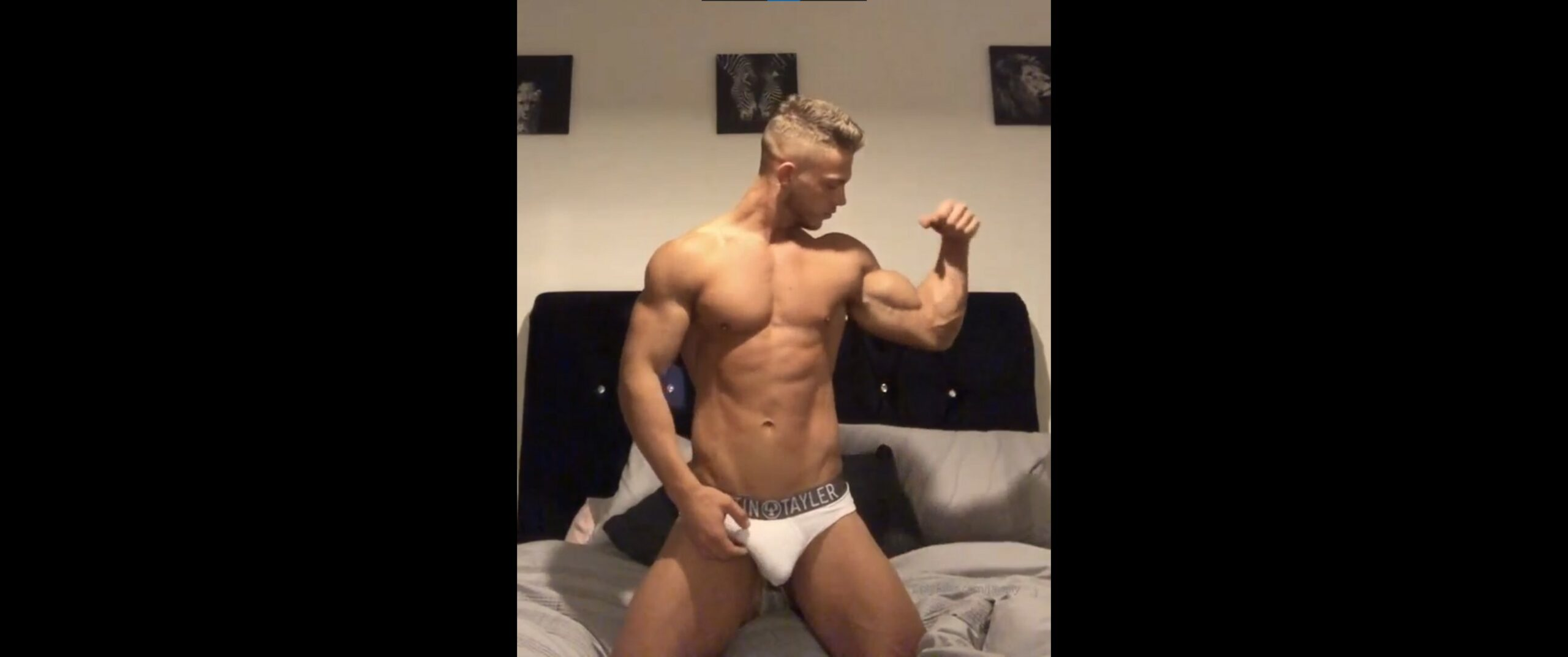 Showing off my muscles and flexing in my underwear – Joshua Tilleard (thehandsomept) – Gay for Fans – gayforfans.com