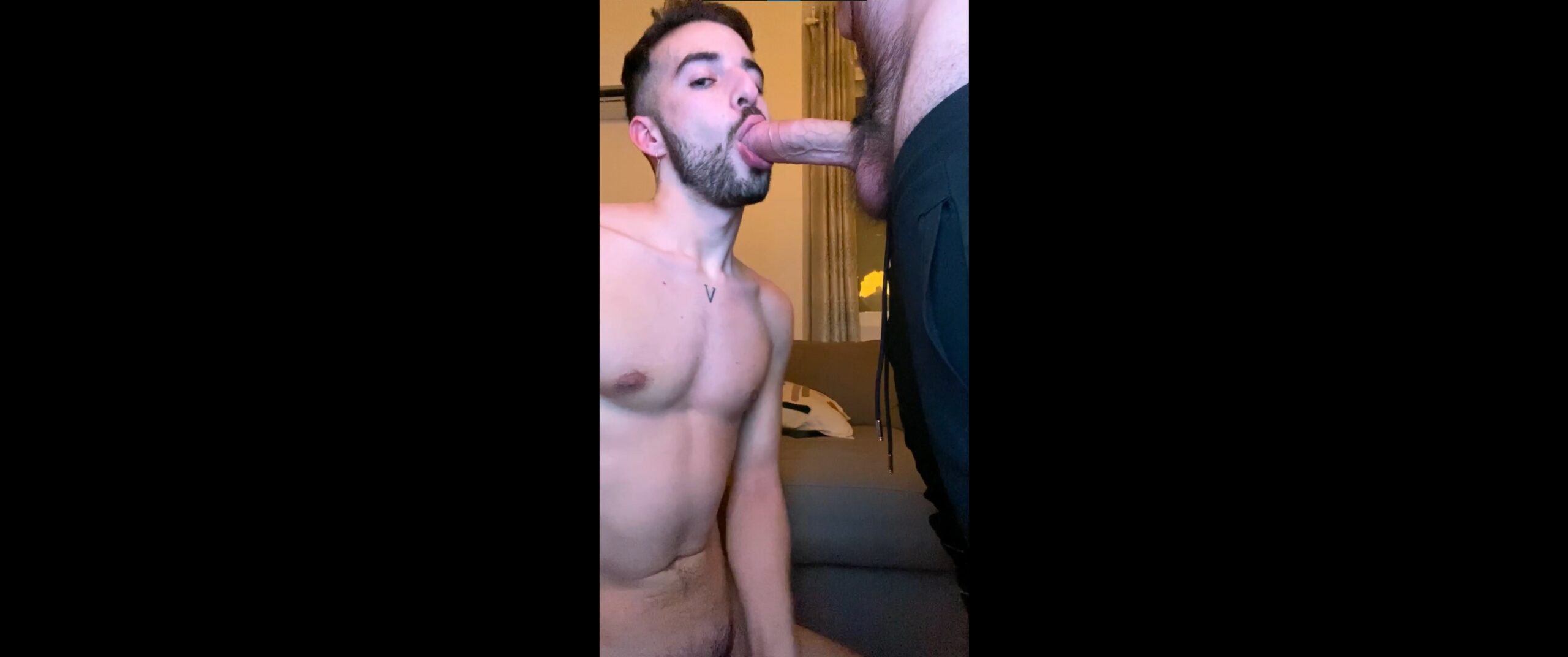 Getting face fucked by a thick cock - Andres Voight (andresvoight)