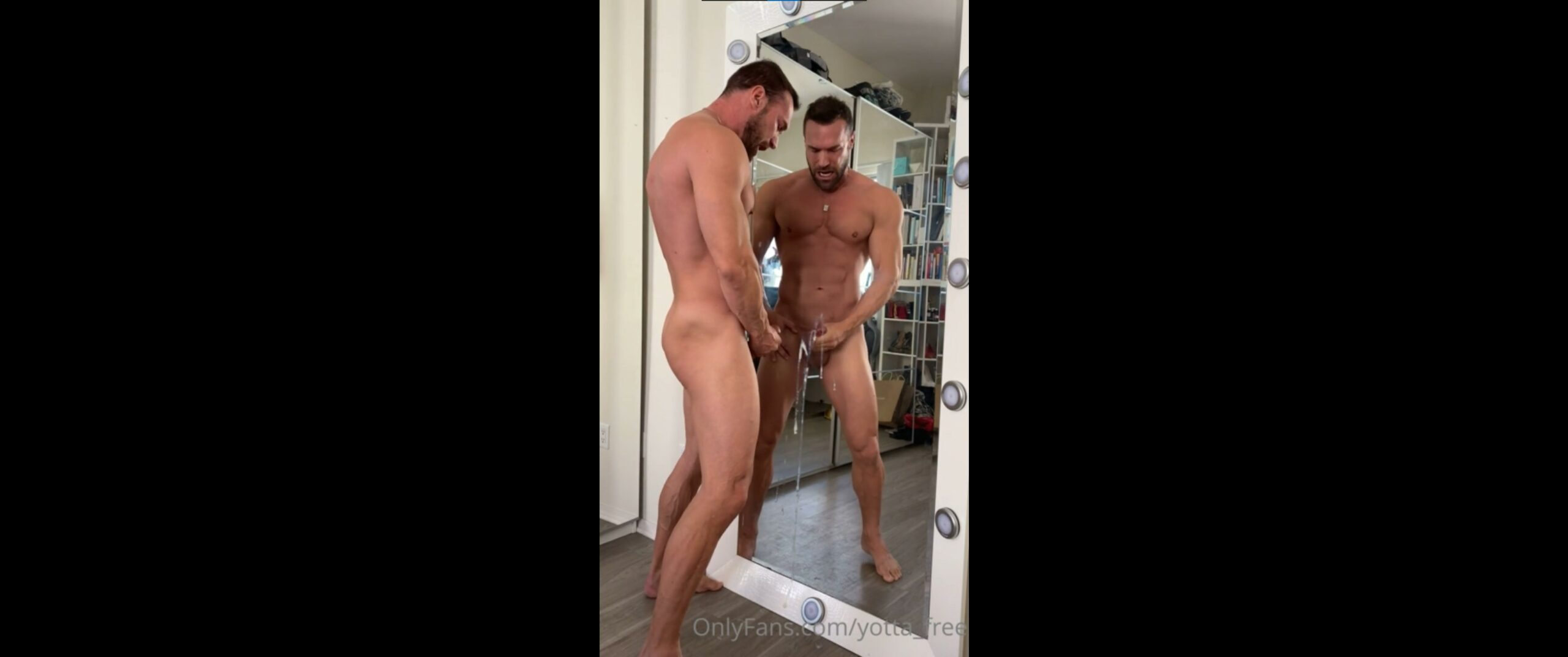 Jerking off and shooting a big load over my mirror - Bastian Yotta (yottalife)