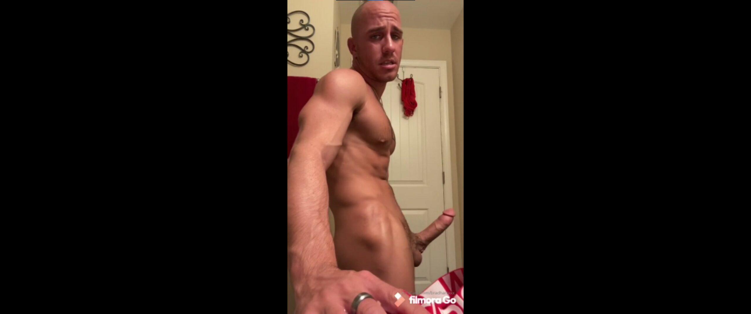 Jerking off hard and cumming over my underwear - Brad Hart (BradHartXXX)