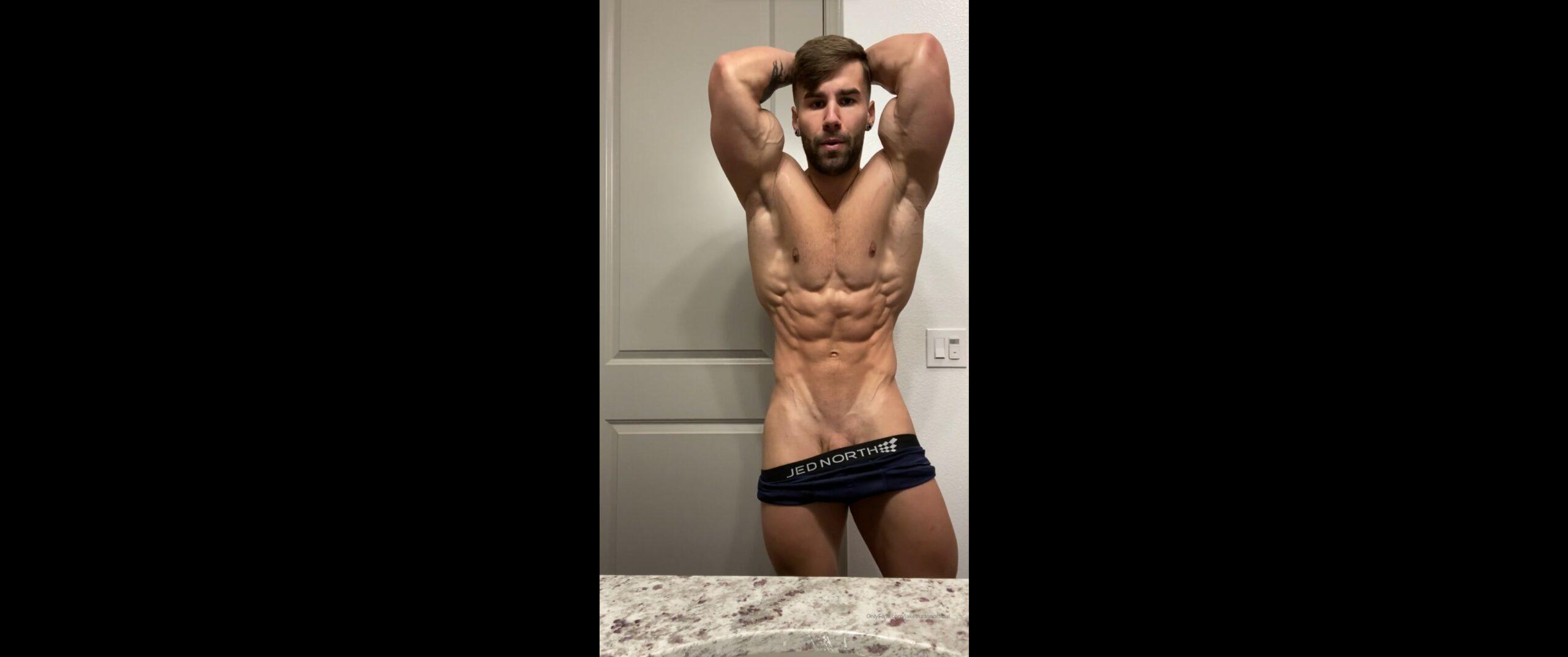 Flexing hard before my shower - Jake Burton (JakeBurtonOfficial)